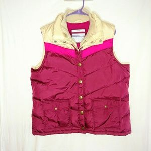 Color block pink puffer vest Old Navy size XL